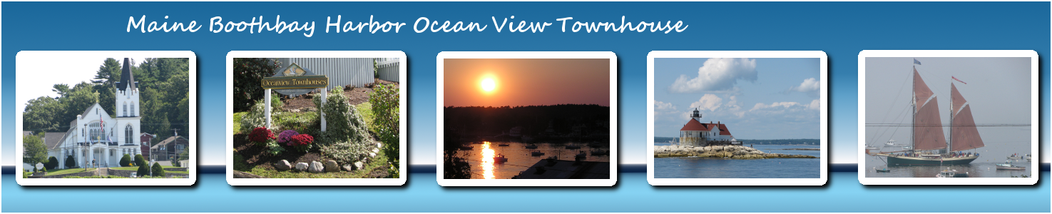 Maine Boothbay Harbor Ocean View Condo