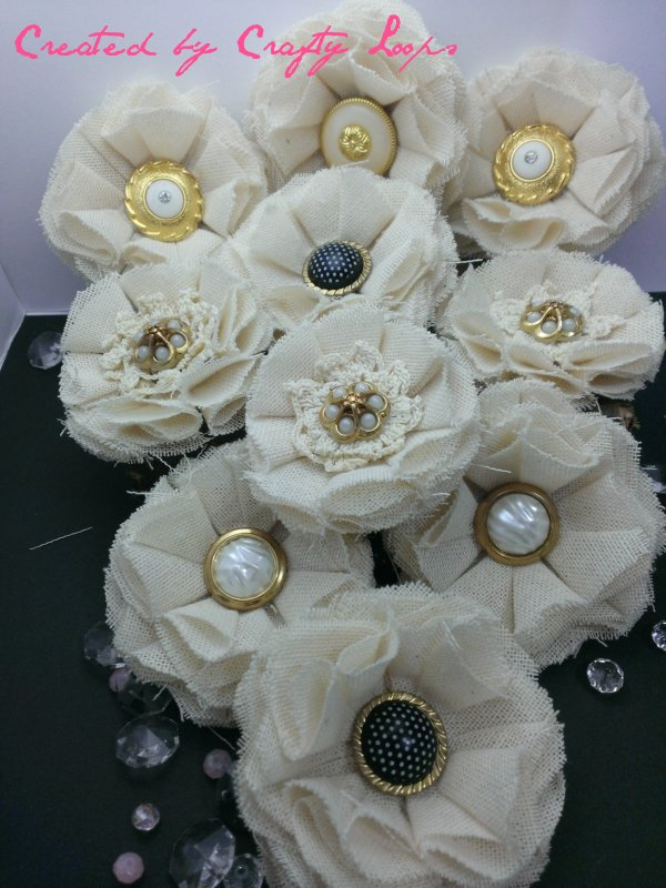 Handmade Muslin Fabric Flowers