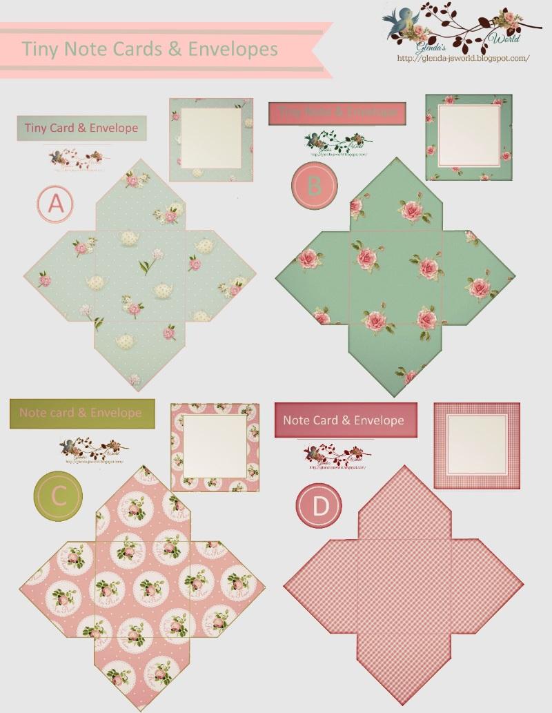 glenda u0026 39 s world   tiny note cards  u0026 envelopes