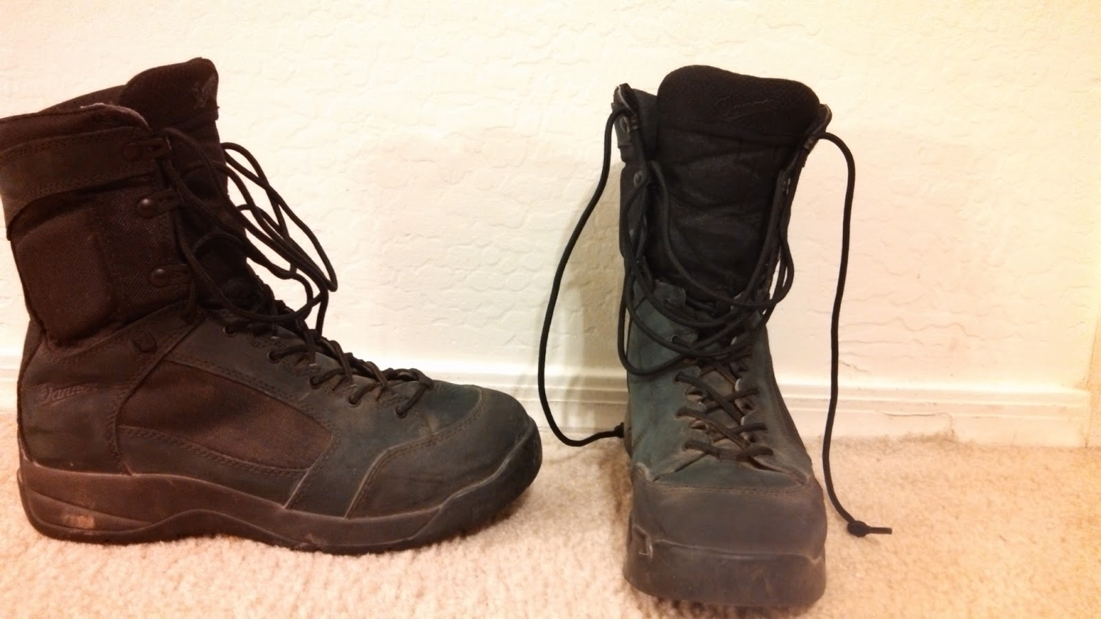 Desert Wear & Tear: Danner DFA Black Boots