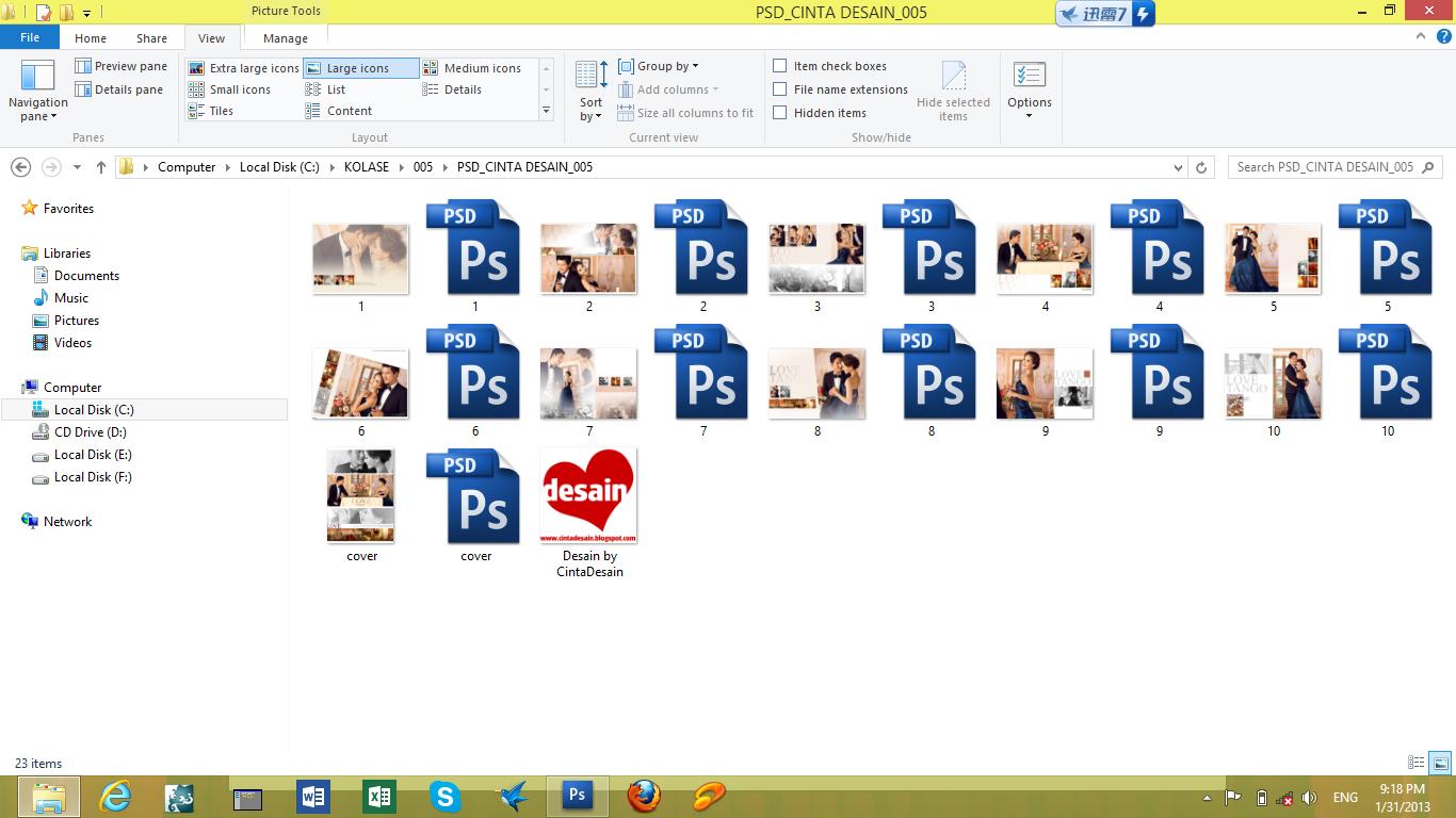 100+ Template Album Kolase Format PSD bisa dibuka dengan Photoshop ...