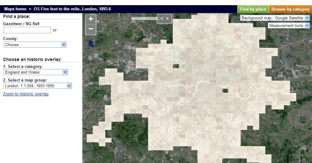 Victorian London OS maps go online