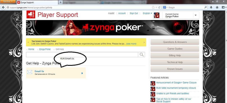 Zynga poker gmail