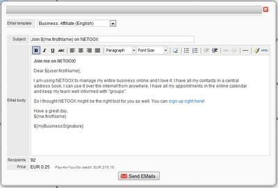 mass mail netoox email template netbiz global ltd. Black Bedroom Furniture Sets. Home Design Ideas