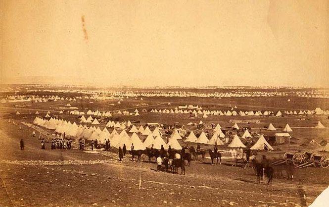 Палаточный лагерь 33-го полка британской армии под Севастополем