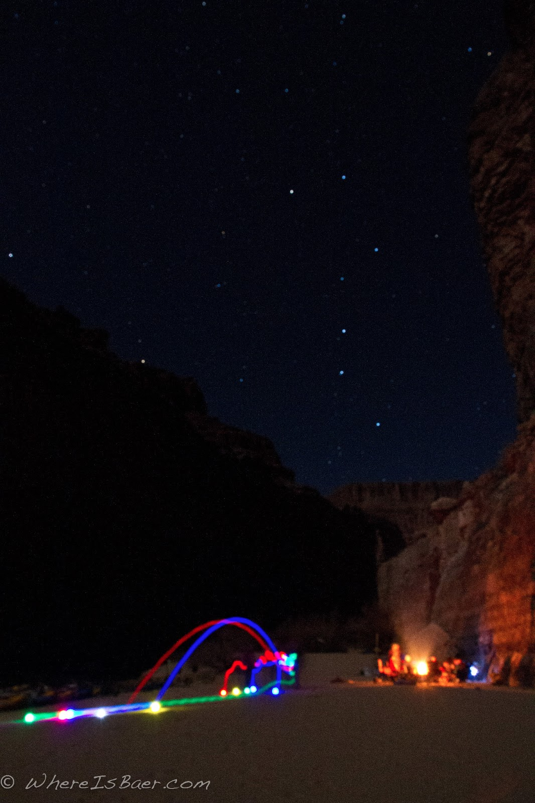 Bocce! night time light up bocce in the Grand canyon of the COlorado with & Where Is Baer ?: Grand Canyon of the Colorado River 2013 azcodes.com