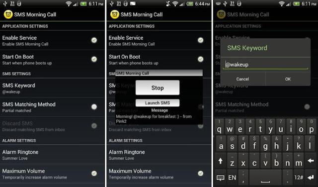 Morning Call SMS, Aplikasi untuk membangunkan teman Anda di pagi hari dengan hanya sebuah SMS