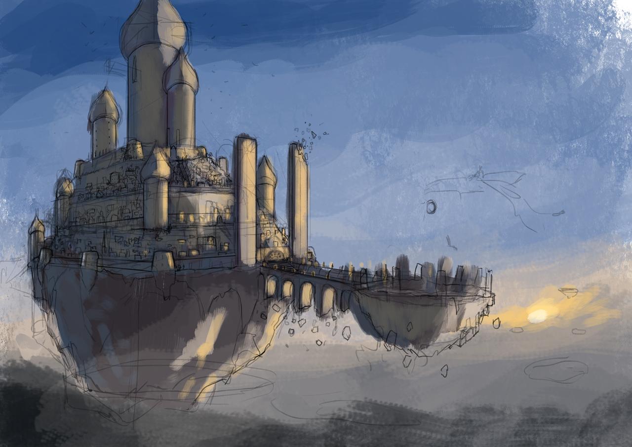 Art of artyom semenov sun castle sketch for Sun castle