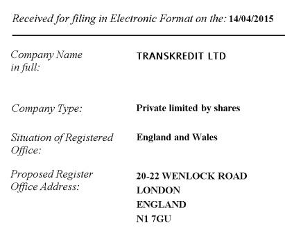 TransKredit, registation, регистрация