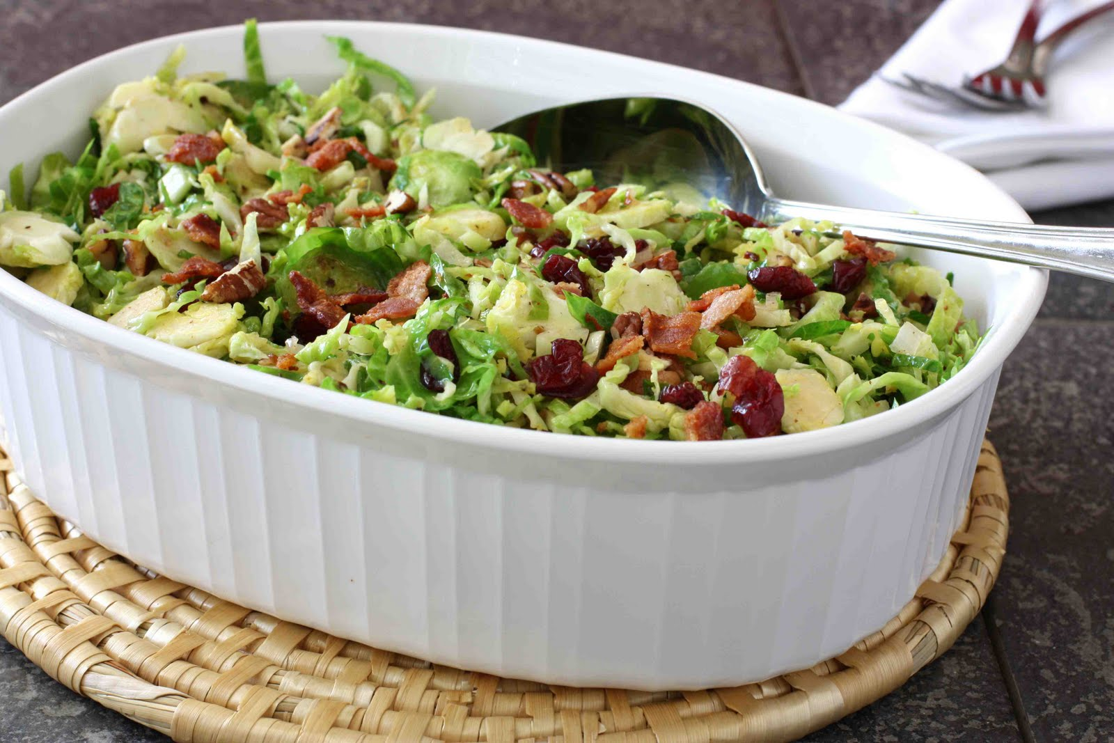 carolynn's recipe box: Brussels Sprouts with Lemon, Thyme and Bacon