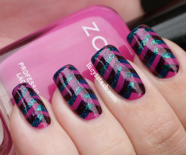 Lucy's Stash: Tight Fishtail Braid manicure with Zoya Reagan, Valerie and Charla