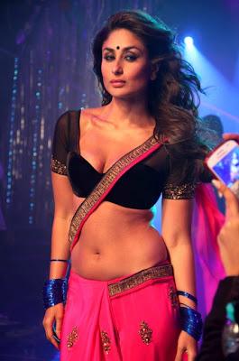 Hot 'Halkat Jawani' of Kareena striping out the guys bare boobs and tits