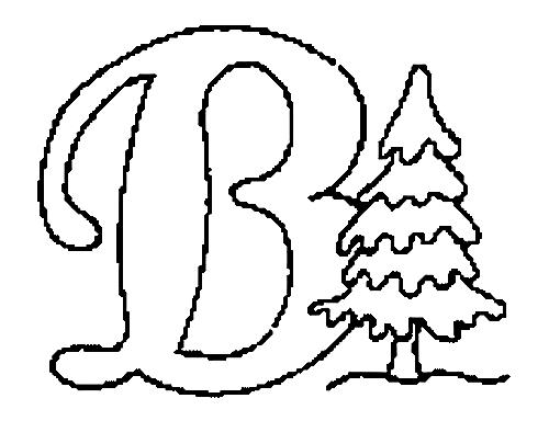 a desenhar Letras Do Alfabeto Letra B colorir