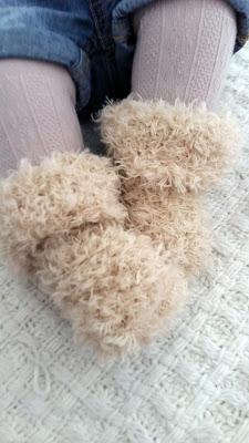 chaussons  bébé petit ours tricot tuto facile
