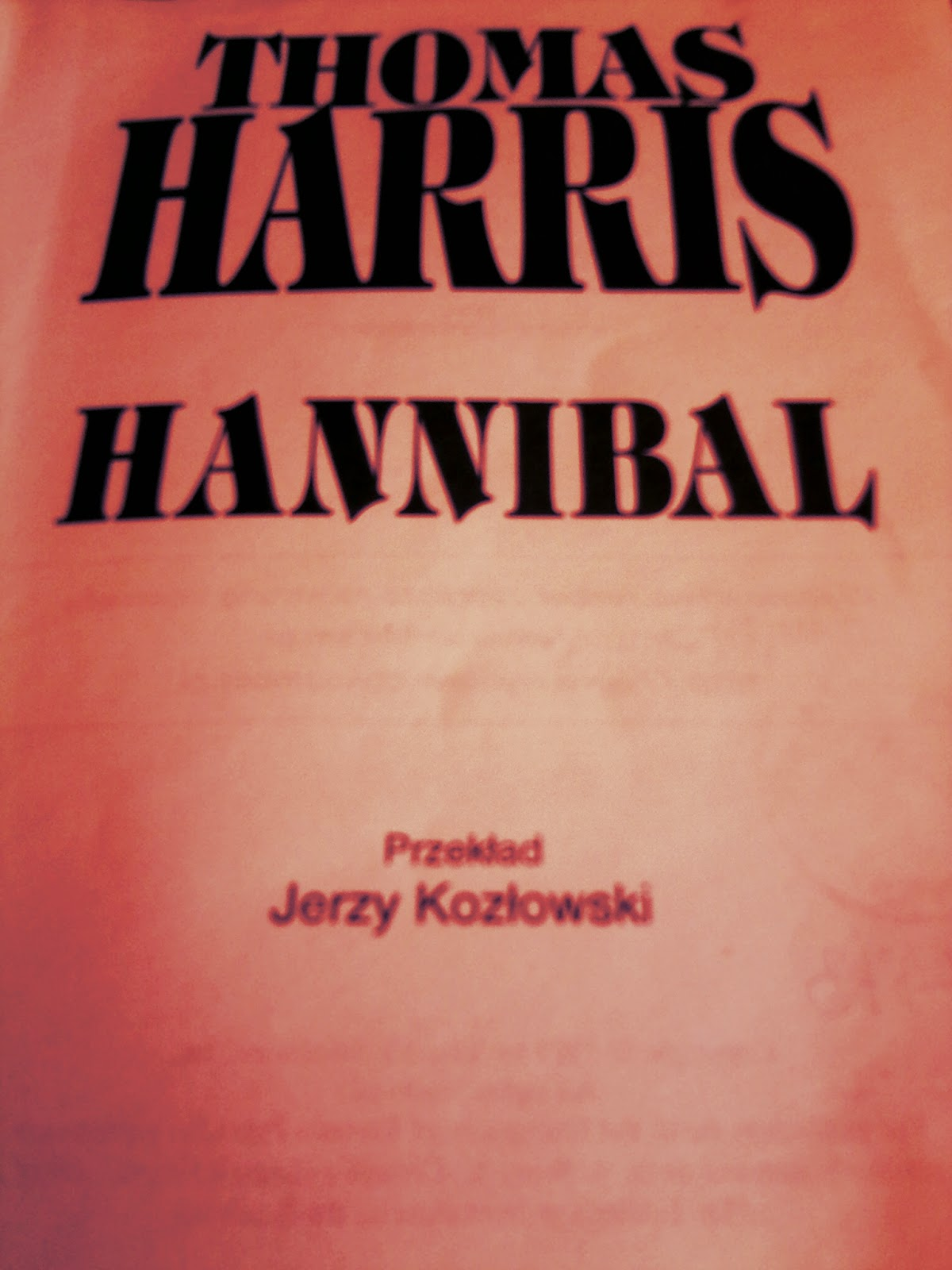"Thomas Harris ""Hannibal"""