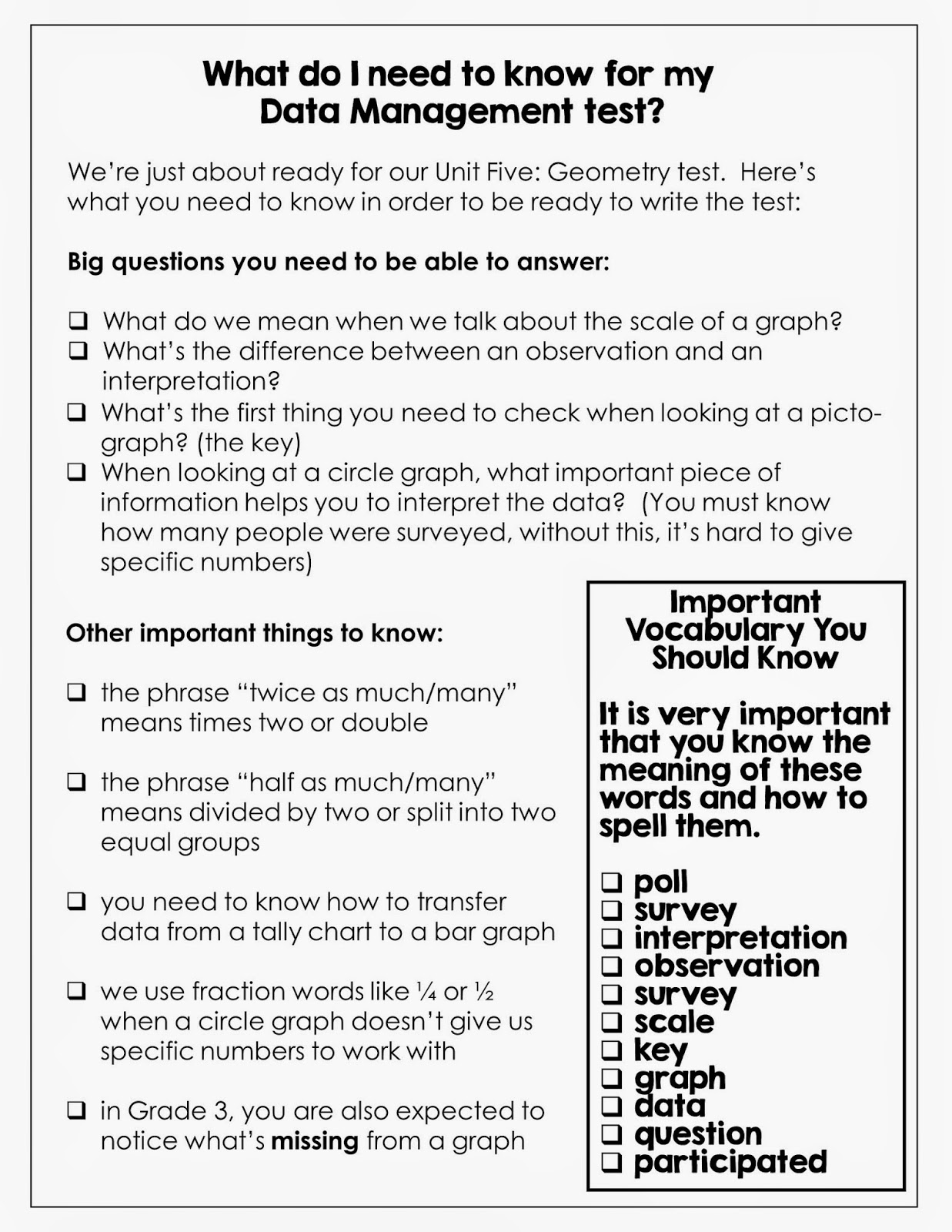 unit 6 study guide Unit 6/7: learning & cognition study guide created by your table captains  unit 6: learning (chapter 6) learning: a relatively permanent.