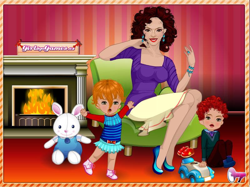 Juego de vestir a una mama y sus gemelos juega con tet - Juegos de gemelos ...
