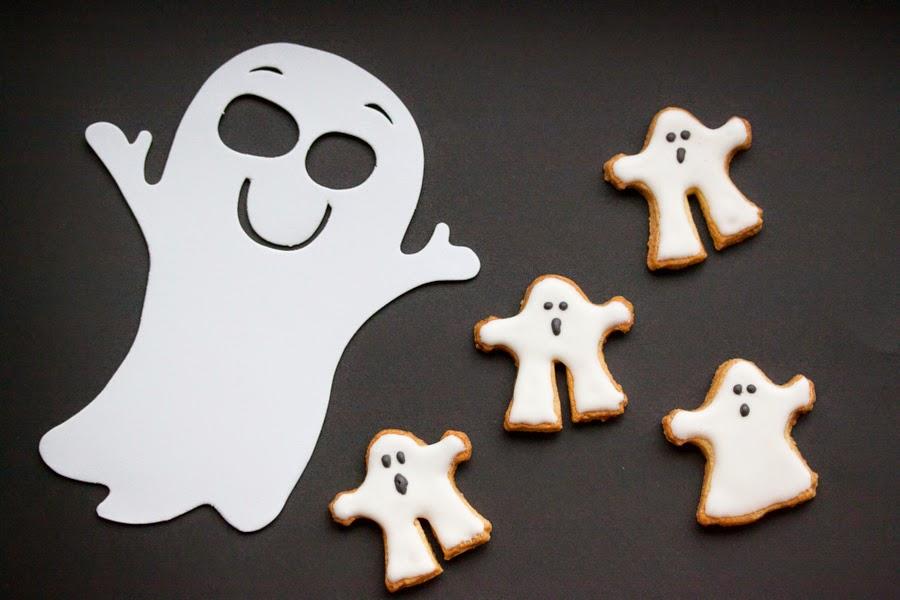 halloweenowe ciasteczka duchy