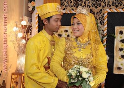 baju pengantin tema kuning, wedding, anniversary