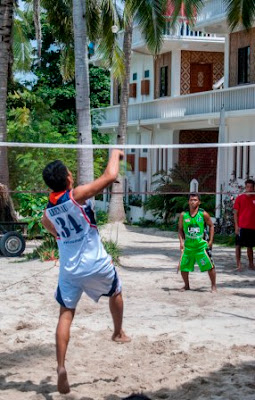 Badminton at Malapascua Exotic island dive resort, Sports fest 2015