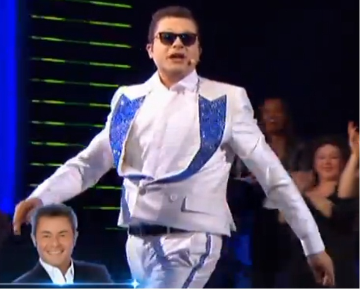 French man Jérôme Anthony disguised as Psy