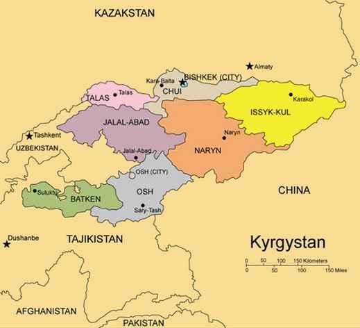 Asia Tengah Negara Bentuk Sistem Pemerintahan Seta Kyrgyzstan Gambar Peta