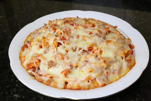 Macarrones con ternera y queso