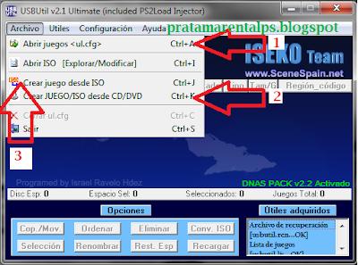 Cara Instal Game PS2 Ke Harddisk Menggunakan USBUtil v2.1
