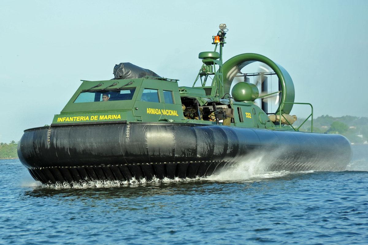 Hovercraft Griffon 200TD de la Infantería de Marina de Colombia.