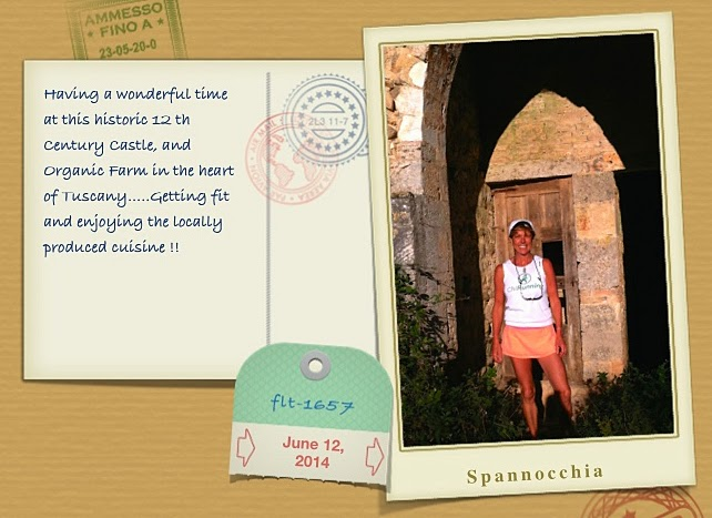 Angela James greeting card from Tuscany ChiRunning/Chiwalking retreat