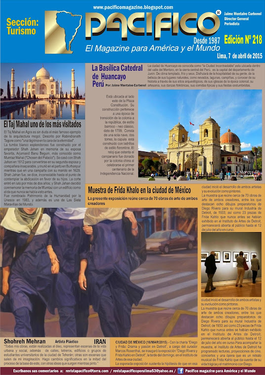 Revista Pacífico Nº 218 Turismo