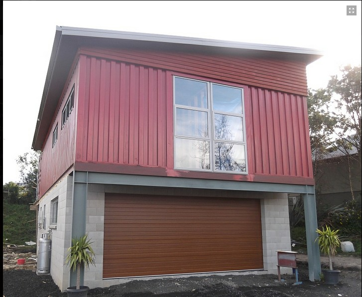 Project shipping container garage builds and project for Two storage house designs