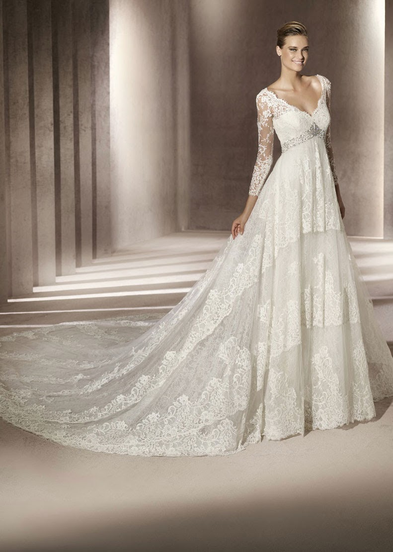 Ivory Wedding Dresses Sleeves Design Ideas - Photos HD