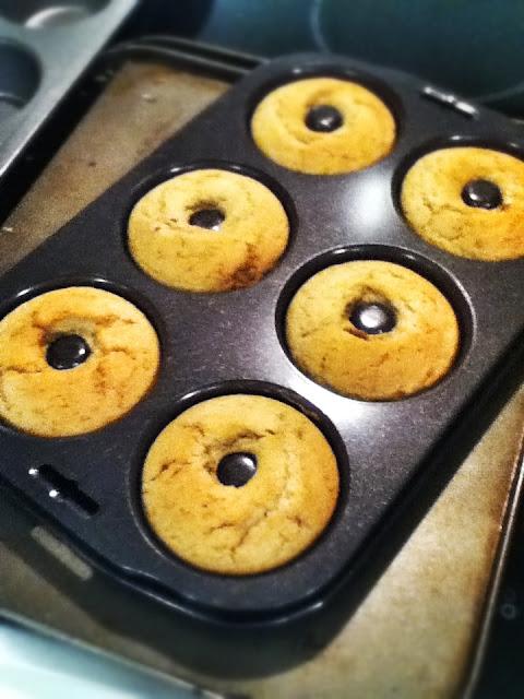 Spiced Vanilla Baked Doughnuts with Vanilla Glaze