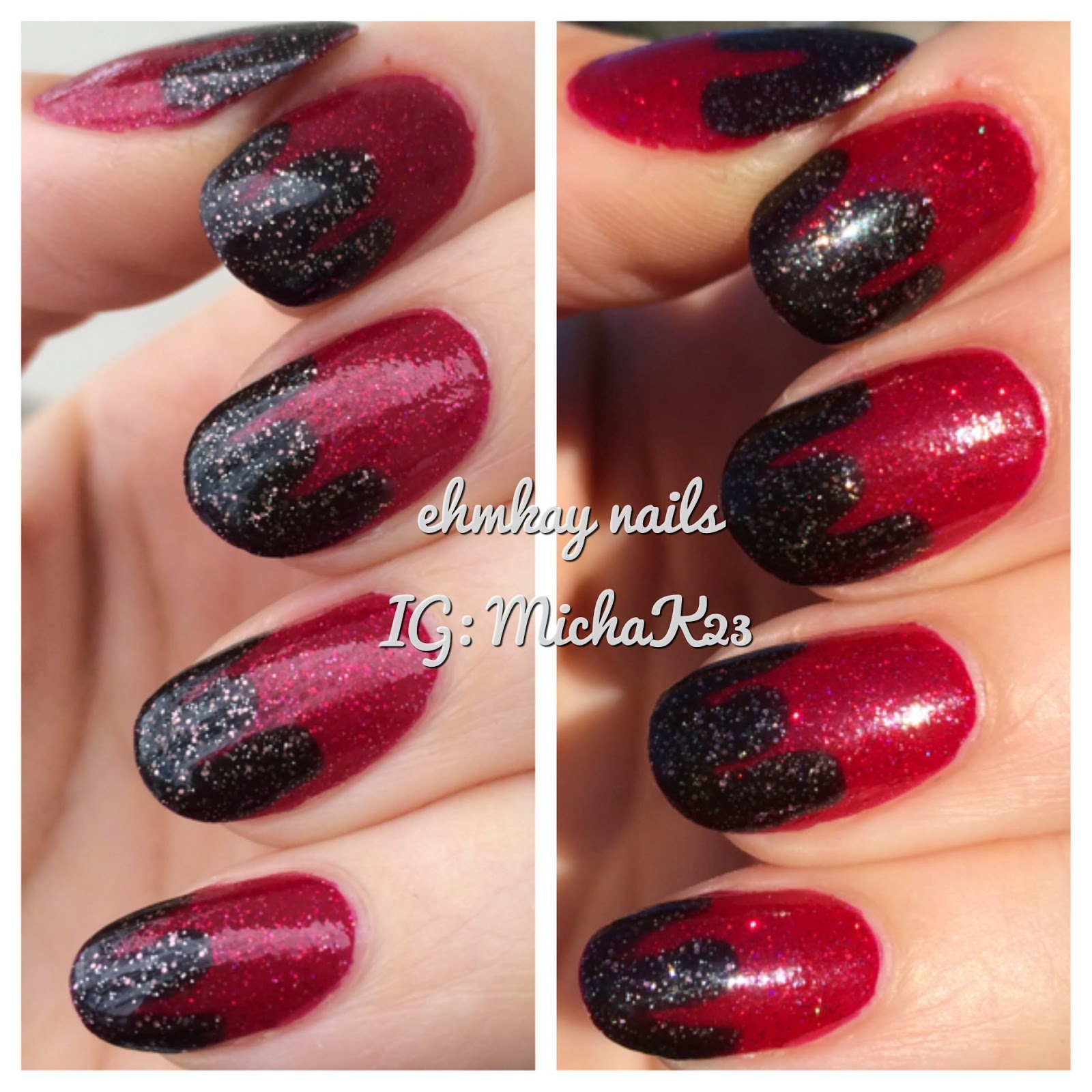 ehmkay nails: Chocolate Dipped Strawberries Nail Art with Azature ...
