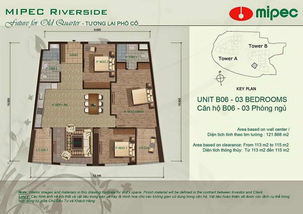 Căn B06 cư xá Mipec Riverside