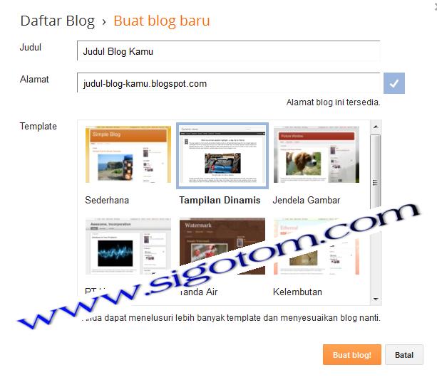 Blogspot: Cara membuat/mendaftar blogger-blog