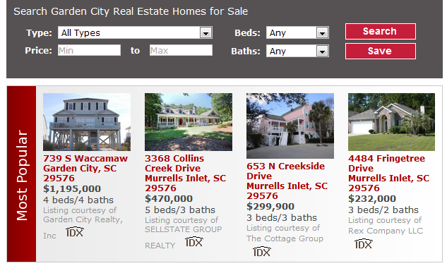 Search Garden City Sc Homes And Condos For Sale