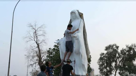 لا حرية بلا تمثال العذراء في البصرة