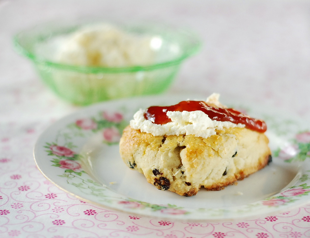 Marzipan: Currant Cream Scones and Homemade Clotted Cream