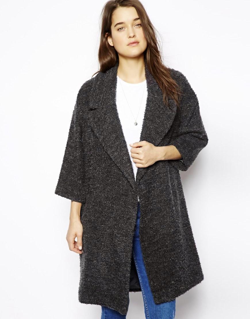 grey oversized coat