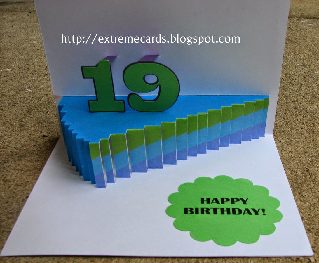 slice of cake pop up card open