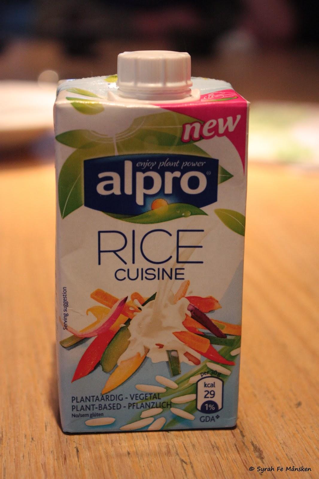 Vegan tagein tagaus neu alpro rice cuisine for Alpro soja cuisine
