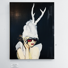 """Lady Gaga with Antlers"" by Laura Collins"