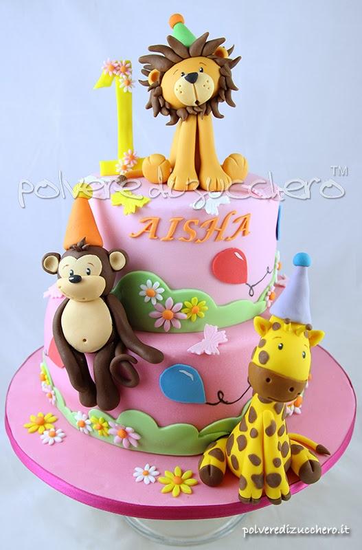 leone, scimmia, giraffa, polvere di zucchero