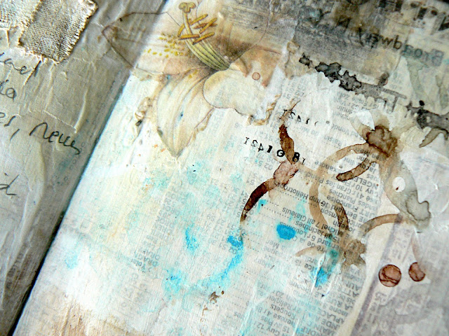 Scraps of Elegance scrapbook kits: Mixed Media Double Art Journal Pages With Multiple Image Transfers Photo Tutorial - Stephanie Papin created these gorgeous art journal pages with our Lisa's Sweet September kit,