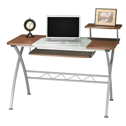 Small Modern Computer Desk with Metal Legs