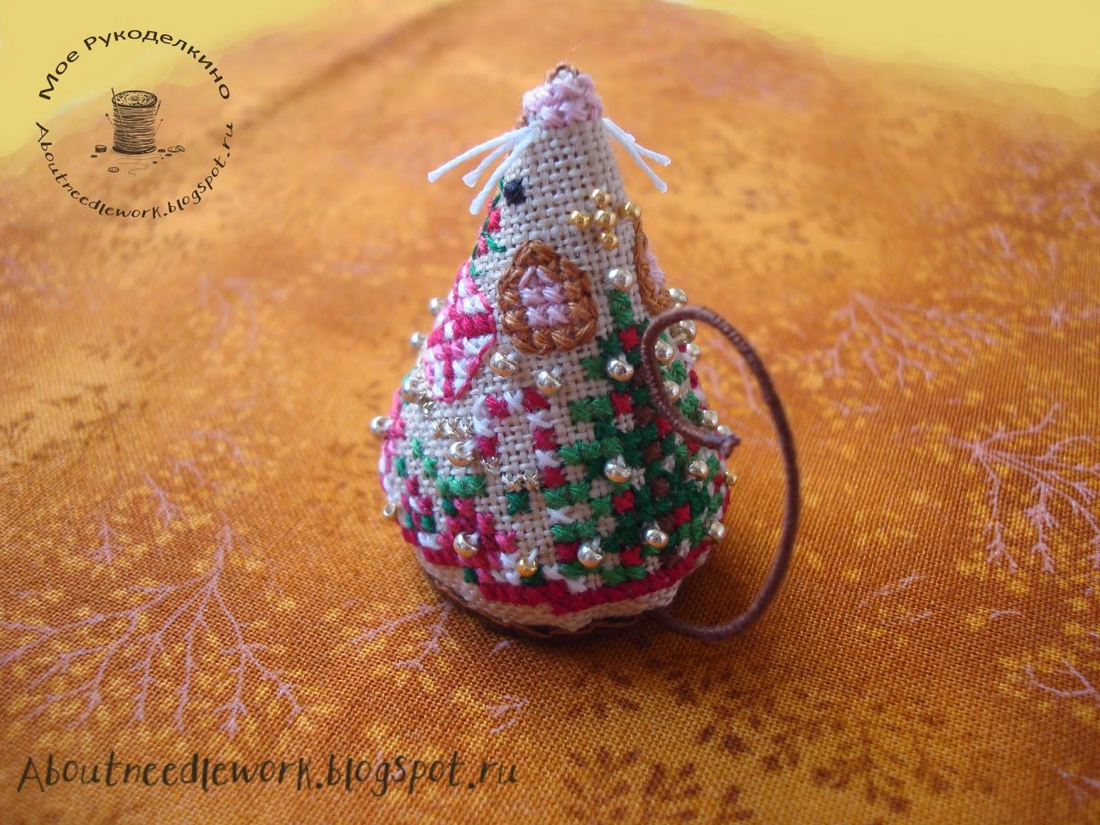 Мышка Gingerbread Mouse (схема Just Nan)