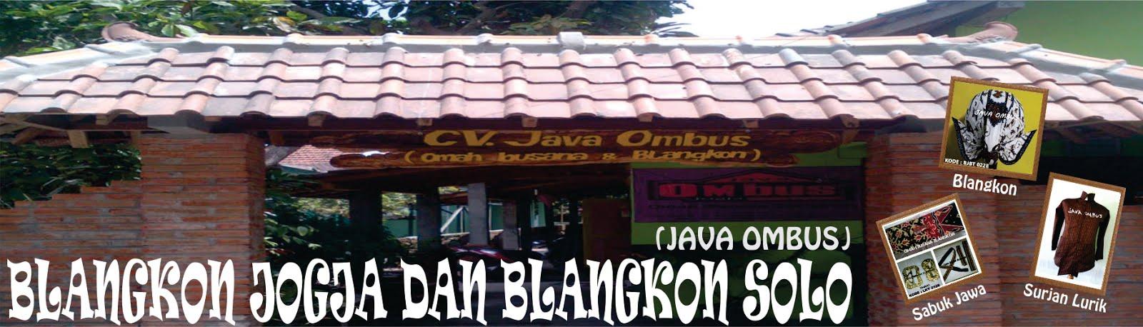 BLANGKON JOGJA DAN BLANGKON SOLO (Java Ombus)