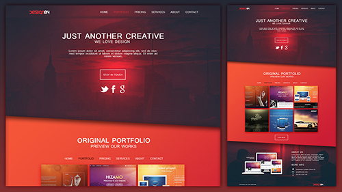 Design a Creative Portfolio Web Design Layout In Photoshop